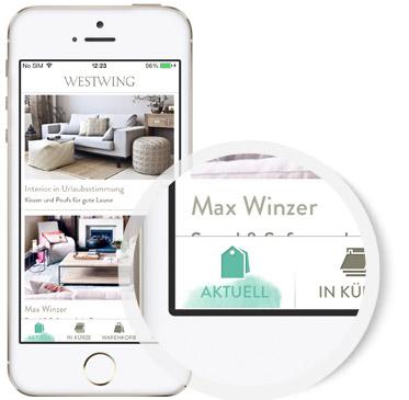 westwing smartphone apps westwing home living. Black Bedroom Furniture Sets. Home Design Ideas